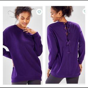 🆕 NEW Fabletics Nina Lace-Back Pullover Fleece M